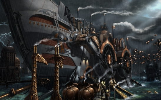 naval-ship-steampunk-wallpaper